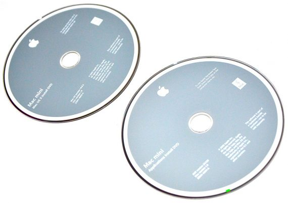 Original Apple 2 DVD MAC OS X 10.6.2 Mac Mini A1283 Late 2009-262