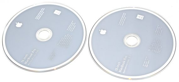 "Original Apple 2 DVD MAC OS X 10.5.5 MacBook Pro Unibody 15"" Late 2008 / Early 2009 A1286-777"