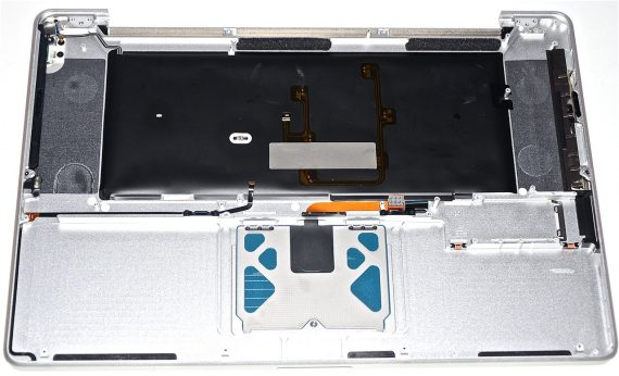 "MacBook Pro 17"" Topcase Trackpad Tastatur Deutsch Model A1297 Early / Mid 2009-1102"