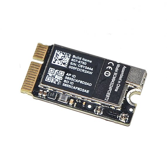 "Original Apple AirPort / Bluetooth Karte 607-6760 MacBook Air 11"" Model A1370 Late 2010 661-5687-0"