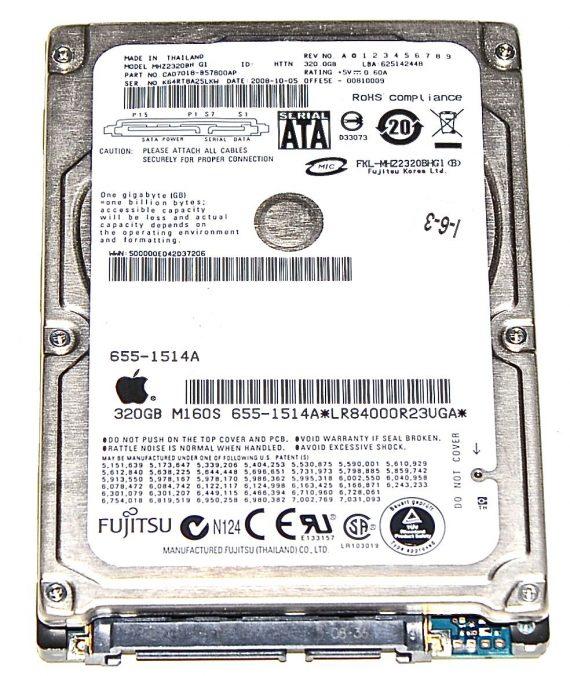 "Hard Drive Festplatte 2,5"" SATA Fujitsu 320GB MHZ2320BH-0"