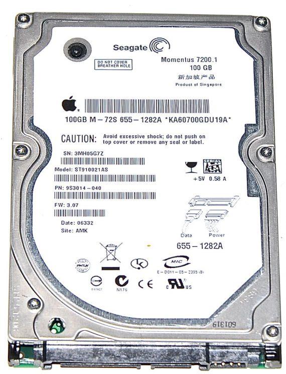 "Hard Drive Festplatte 2,5"" SATA Seagate 100GB ST910021AS-0"