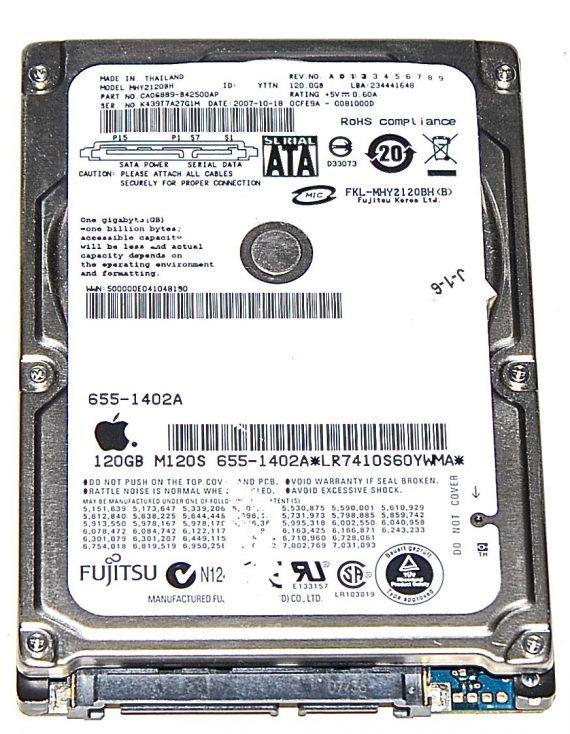 "Hard Drive Festplatte 2,5"" SATA Fujitsu 120GB 655-1402A MH2120BH-0"