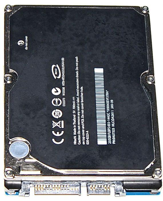 "Hard Drive Festplatte 2,5"" SATA Hitachi 250GB 020-6223-A-0"