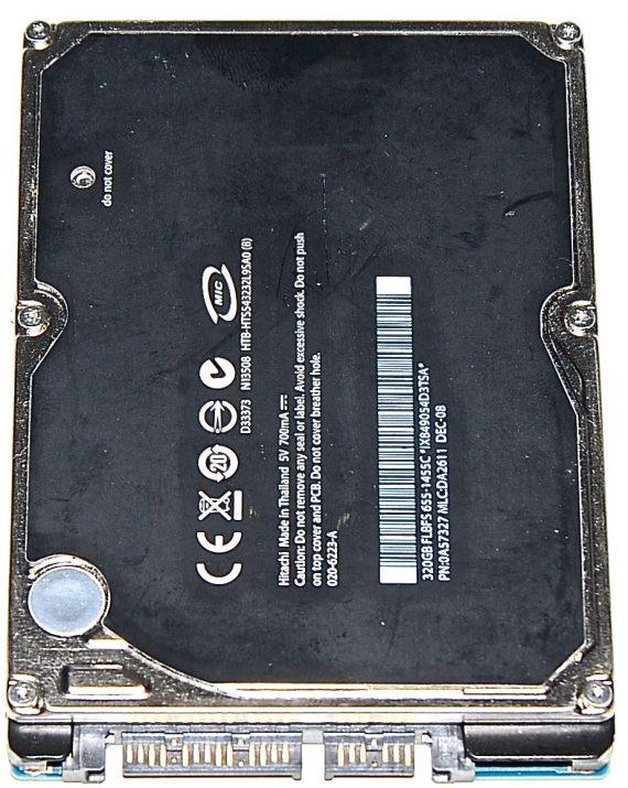 "HDD Festplatte 2,5"" SATA Hitachi 320GB 020-6223-A 655-1455C-1364"