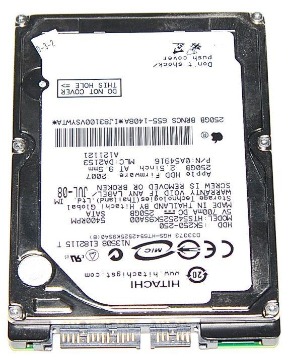 """Hard Drive Festplatte 2,5"""" SATA Hitachi 250GB HTS542525K9SA00-0"""