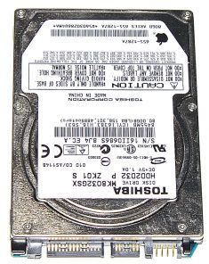 "Hard Drive Festplatte 2,5"" SATA Tochiba 80GB MK8032GSX -0"