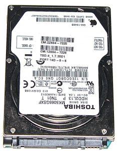 """Hard Drive Festplatte 2,5"""" SATA Tochiba 500GB MK5065GSXF-0"""