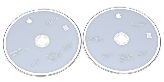 "Original Apple 2 DVD MAC OS X 10.6.1 MacBook 13"" Unibody Late 2009 A1342-0"