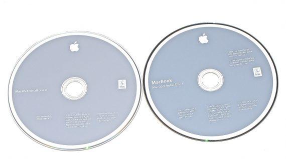 """2 DVD MAC OS X 10.5. Snow Leopard für MacBook 13"""" Late 2007 A1181 Schwarz-0"""