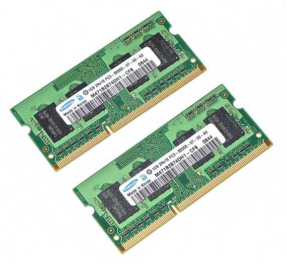 "Original Arbeitsspeicher Samsung 2GB (1GB X 1GB) PC3-8500 DDR3 1066Mhz MacBook Pro 15"" A1286 Late 2008 Early 2009-0"