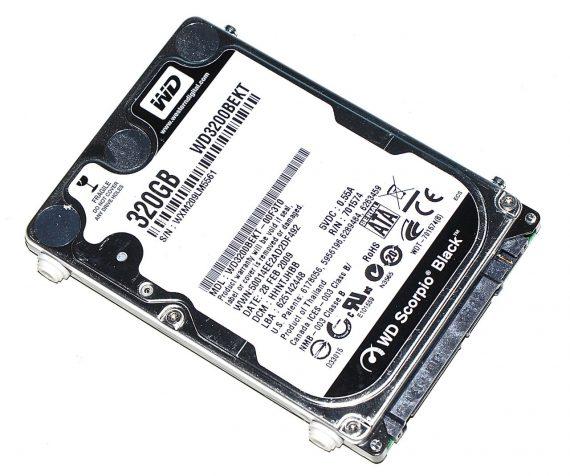 "Festplatte WD Scorpio Black 320GB WD3200BEKT-00F3T0 für MacBook Pro 15"" Model A1226-0"