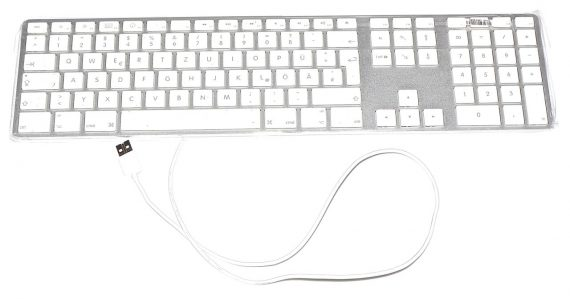 "Original Apple Keyboard Tastatur Deutsch USB Model A1243 für iMac 20"" A1224 Early 2008-0"