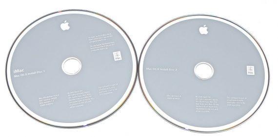 """2 DVD MAC OS 10.5.2 für iMac 20"""" A1224 Early 2008-0"""