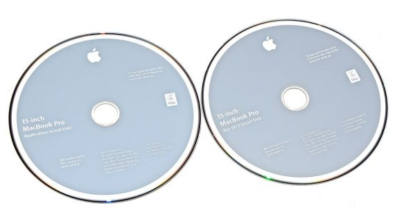 "Original Apple 2 DVD MAC OS X 10.6.3 MacBook Pro Unibody 15"" Mid 2010 A1286-0"