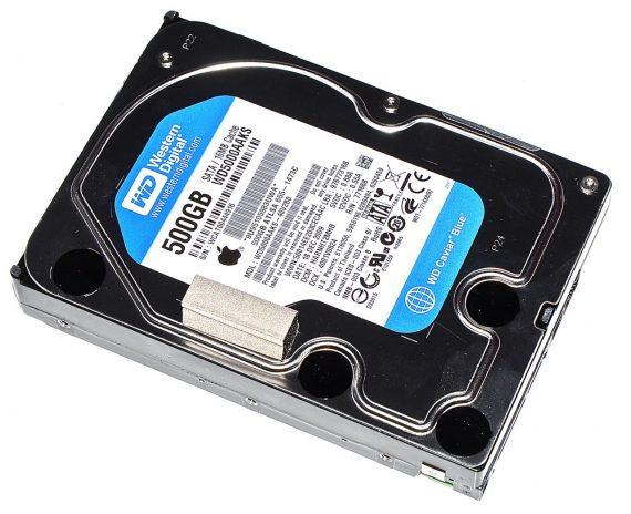"Original Apple Festplatte Western Digital 500GB WD5000AAKS-40V2B0 iMac 21.5"" Late 2009 A1311-0"