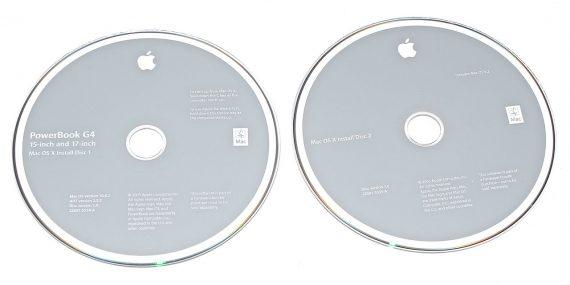 """2 DVD MAC OS X 10.4.2 für PowerBook G4 17"""" 1,67GHz A1139-0"""