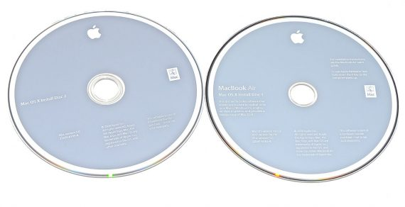 "Original Apple 2 DVD MAC OS X 10.5.2 MacBook Air 13"" Model A1237 -0"
