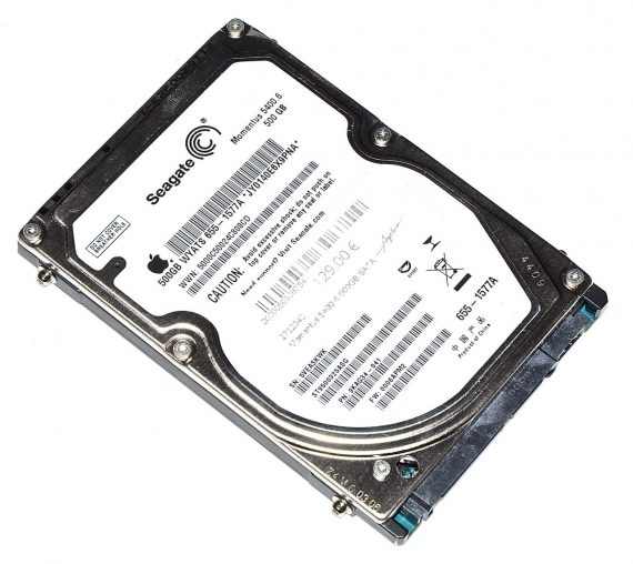 "Original Apple Festplatte 2,5"" SATA Seagate 500GB JY0140E6X9PNA MacBook Pro 15"" A1286 Late 2008 / Early 2009-0"