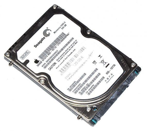 "Original Apple Festplatte 2,5"" SATA Seagate 500GB JY0140E6X9PNA MacBook Pro 15"" A1286 Late 2008 / Early 2009-0"