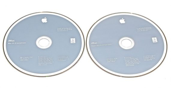 "Original Apple 2 DVD MAC OS X 10.6.1 2Z691-6588-A iMac 21.5"" Late 2009 A1311-0"