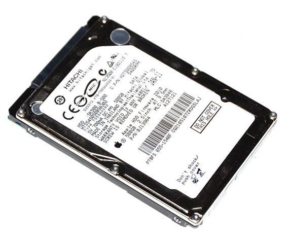 "Original Apple Festplatte 2,5"" SATA Hitachi 500GB HTS545050B9A302 655-1540F MacBook Pro Unibody 15"" Early 2011 / Late 2011 A1286-0"