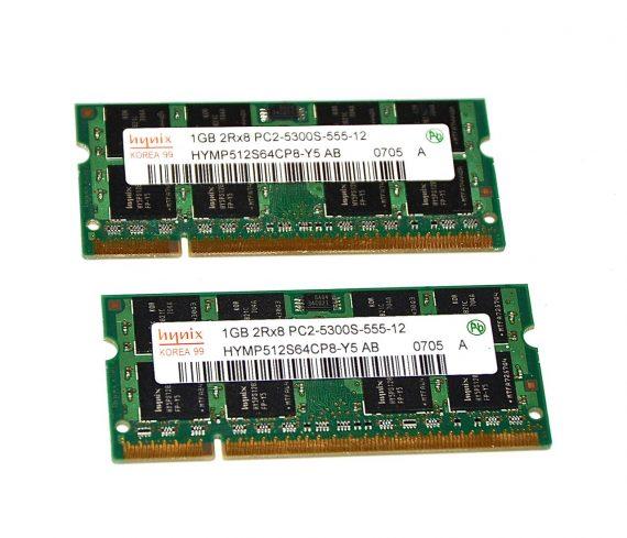 """RAM Hynix 2 GB PC2-5300 DDR2 667Mhz MacBook 13"""" A1181 Core 2 Duo Late 2006 -0"""