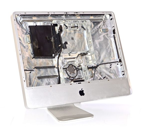 """Back Cover Gehäuse Standfuß STAND iMac 24"""" Mid 2008 Model A1225 -0"""
