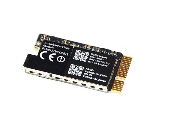 "Original Apple AirPort / Bluetooth Karte BCM943224PCIEBT2 607-9901 MacBook Air 11"" Model A1465 Mid 2012 661-6622 661-6053-0"