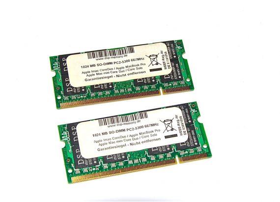 "MacBook 13"" RAM 2GB DCP PC2-5300 667MHz Model A1181 Core Duo -0"