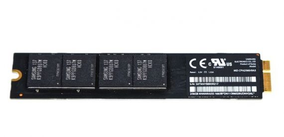 "Original Apple Festplatte Samsung 256GB MZ-CPA2560/0AS MacBook Air 11"" 13"" A1369 / A1370 661-5684, 661-6052-0"
