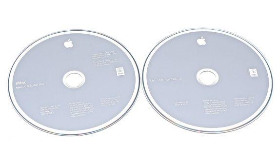 "Apple 2 DVD MAC OS 10.5.2 Snow Leopard iMac 24"" A1225 Mid 2008-0"