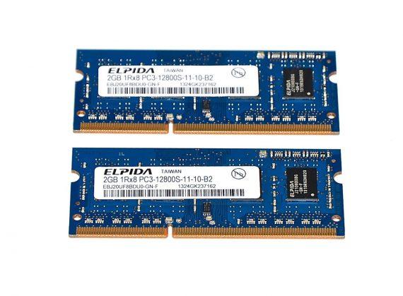 "Original Arbeitsspeicher Elpida 4GB 2 x 2GB PC3-12800S DDR3 1600Mhz MacBook Pro 13"" Mid 2012 Model A1278-0"