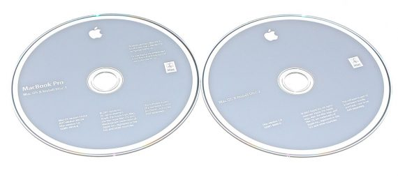 "2 DVD MAC OS X 10.4.9 MacBook Pro 17"" Model A1229-0"