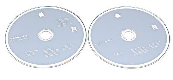 """2 DVD MAC OS X 10.4.9 MacBook Pro 17"""" Model A1229-0"""