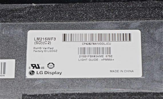 "Original Apple LCD Display Panel LM215WF3 ( SD ) ( C2 ) iMac 21.5"" A1311 Mid 2011-5303"