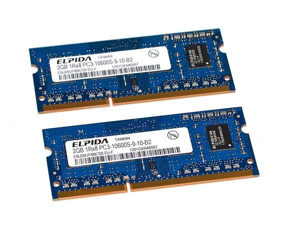 """Original Arbeitsspeicher 4GB 2GB X 2GB PC3-10600 1333MHz DDR3 iMac 21.5"""" A1311 Mid 2011-0"""
