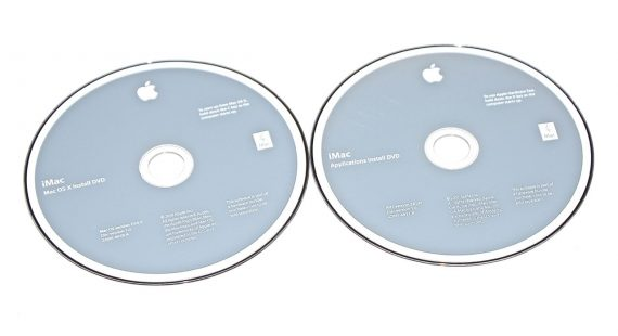 "2 DVD Apple Mac OS X 10.6.3 Snow Leopard iMac 27"" Mid 2010 A1312-0"