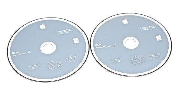 "2 DVD Apple Mac OS X 10.6.3 Snow Leopard iMac 27"" Mid 2010 A1312-0"