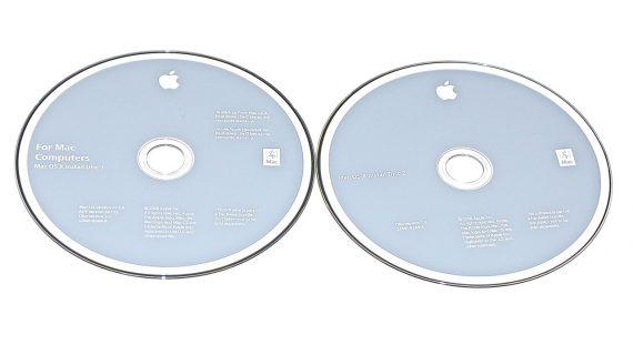 "Apple 2 DVD MAC OS X 10.5.4 Snow Leopard iMac 24"" A1225 Mid 2008-0"