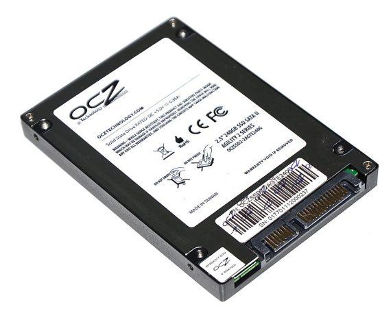 "SSD Festplatte 2.5"" SATA OCZ 240GB OCZSSD2-2VTXE240G iMac 27"" Late 2009 A1312 -6031"