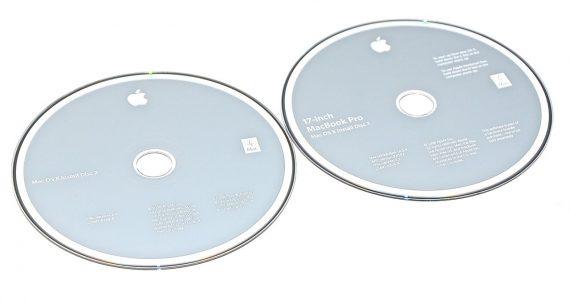 """MacBook Pro 17"""" 2 DVD MAC OS X 10.5.4 Model A1261-0"""