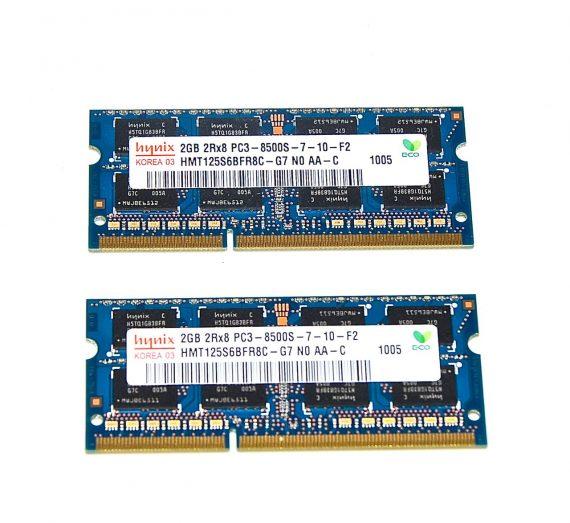 "Original Hynix Arbeitsspeicher (2GB X 2GB) 4GB PC3-8500 DDR3 1066Mhz MacBook Pro 17"" Model A1297 Mid 2010 -0"