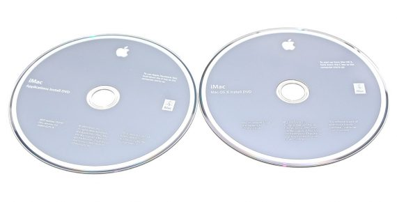 "Apple 2 DVD MAC OS X 10.5.6 Snow Leopard iMac 24"" A1225 Early 2009-0"