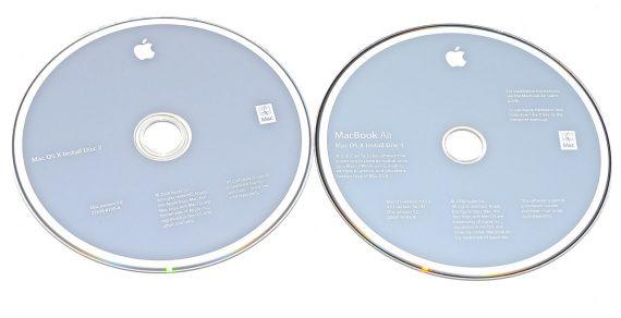 """Original Apple 2 DVD MAC OS X 10.5.2 MacBook Air 13"""" Late 2008 / Mid 2009 A1304-0"""