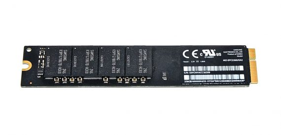 "Original Apple SAMSUNG SSD 256GB MZ-EPC2560/0A2 655-1772A MacBook Air 13"" Mid 2012 A1466 -0"