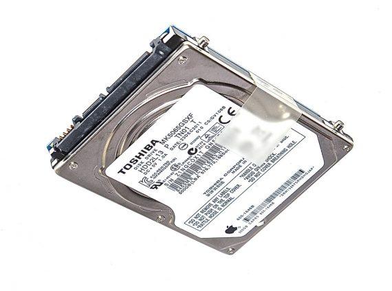 "Original Apple Festplatte 2,5"" SATA TOSHIBA 500GB MK5065GSXF 655-1646B MacBook Pro 13"" A1278 ( Mid 2009 / Mid 2010 ) -0"