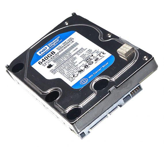 """Festplatte 3,5"""" Western Digital 640GB WD6400AAKS 655-1528C iMac 24"""" A1225 Early 2009-0"""