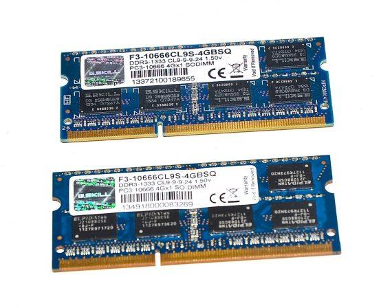 """Original ELPIDA Arbeitsspeicher (2GB X 4GB) 8GB PC3-10666 DDR3 1067Mhz MacBook Pro Unibody 15"""" Mid 2010 A1286-0"""