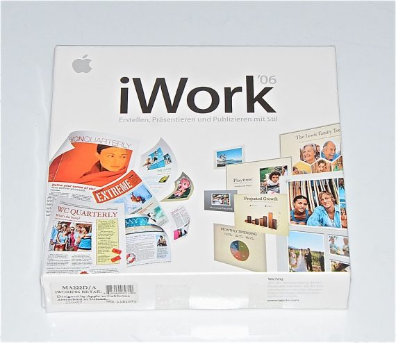 Original Apple DVD MAC Version 2.0.1 iWork ' 06 1Z691-5842-A RETAIL MA222D/A-7087